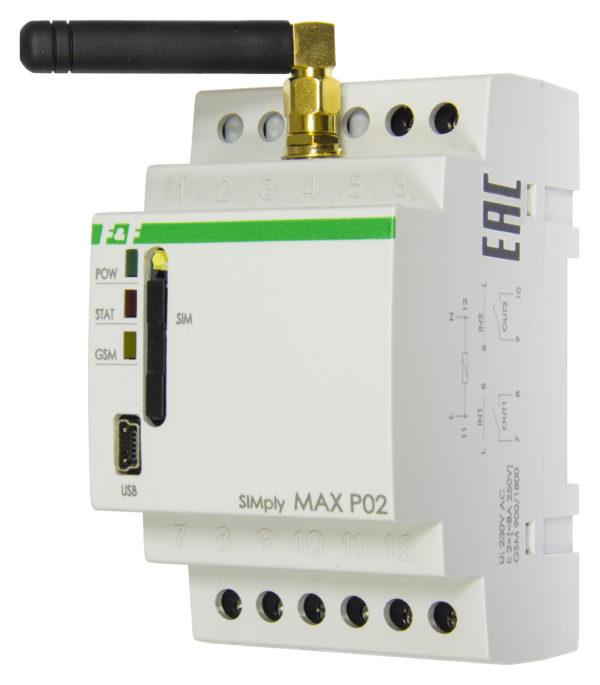 SIMply MAX P02 реле управления по GSM