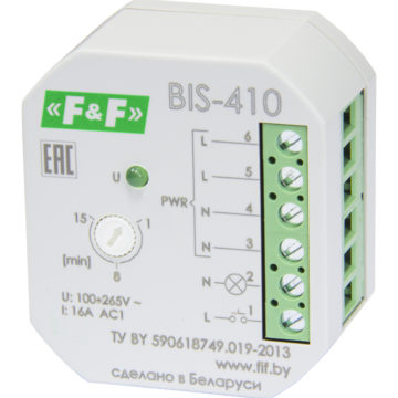 BIS-410 реле импульсное с таймером